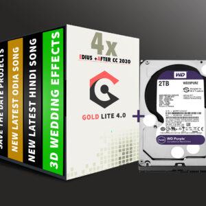 Gold Lite 4.0 & 2TB WD Hardisk